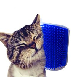 Wholesale trimmer cleaner - New Fashion Pet Cat Self Groomer Grooming Tool Hair Removal Brush Comb for Dogs Cats Hair Shedding Trimming Cat Massage Device With Catnip