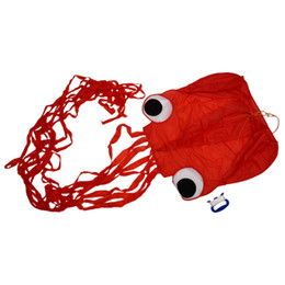Wholesale Kite Stunt - 4M Single Line Stunt Red Octopus Power Sport Flying Kite Outdoor Activity Toy