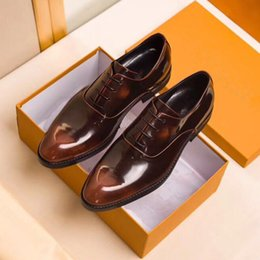 Wholesale Oxford Brogue Shoes - Luxury Brand Formal Dress Men Shoes Business Office Wedding Party Oxford Shoes fashion trend Genuine Leather Brogue Shoes