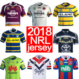 Wholesale Football Cowboys - 2018 nrl jerseys rugby league Storm BRONCOS Cowboys KNIGHTS Eels Roosters home away rugby jerseys football jerseys size S-3XL