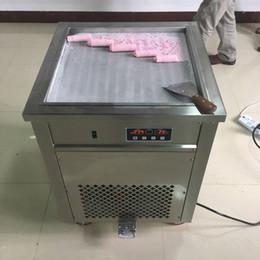 Wholesale cream maker machine - DHL WH 50cm pan instant fry ICE CREAM MACHINE Thai ICE CREAM ROLL MACHINE FRIED ICE CREAM MACHINE