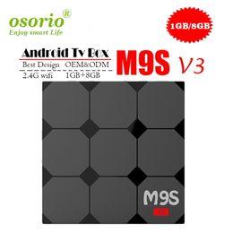 Конечная коробка онлайн-1 PCS RK3229 MXQ PRO 4K M9S V3 V5 X9 K3 S5 Android смарт-боксы Ultimate HD Android7.1 Smart TV Box Quad Core 1g 8g 2.0GHz Оборудование IPTV