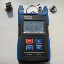 Wholesale Fc Optical Connector - -70 to +10dBm TL510 Portable Optical Power Meter With SC and FC Connector Fiber Tester