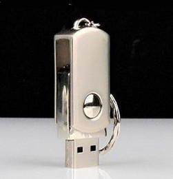 Usb key flash 256gb en Ligne-64 Go 128 Go 256 Go USB 2.0 Porte-clés En Acier Inoxydable En Métal Porte-clés Pivot USB Clés À Mémoire Stick pour iOS Windows Android