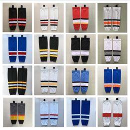 Canada Chaussettes de hockey sur glace Chaussettes de sport 100% polyester taille adulte et taille enfant pouvant être personnalisée Offre