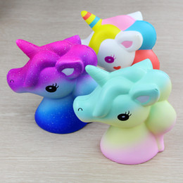 Wholesale big horse toys - Unicorn Squishy Squeeze Toy Novelty Cute PU Flying Horse Squishies Decompression Toys Children Gift Jumbo Squishy KKA4836