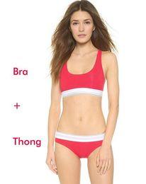 Wholesale Bikinis For Women Brand - Brand designer sport Tracksuit for women Summer Sleeveless Suits for Women 2 Piece set Women short swimwear suit Vest + thong underwear