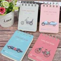 Mini diario della tasca online-A7 hard surface notebook Pocket Notepad Retro Cute Student Diary Mini book 100 fogli