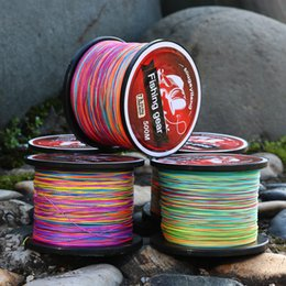 Wholesale Strong Fishing Wire - Deep-sea fishing 500 meter sea rod line strong horse fish line multi strand fishing color line ultra light tensile and wear resistance