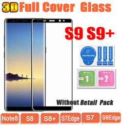 Wholesale Film Covering - S9 S9Plus Note8 S8 3D Curved Full Cover Tempered Glass Phone Screen Protector Film For Samsung Galaxy S8 Plus S7 S7Edge S6edge note 8
