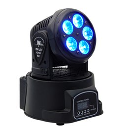 Wholesale Moving Head Lights China - Fast Shipping LED Moving Heads Mini Wash 5x18w RGBWA UV 6in1 with advanced 10 15 Channels China Led Moving Head Light