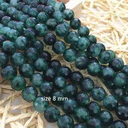 Wholesale Loose Faceted Gemstones - beautiful 8 mm Emerald Faceted Loose Beads Gemstone 15inch