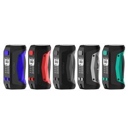 caixa de bateria mod mini Desconto Original Geekvape Aegis Mini 80 W Box Mod 510 Tópico 2200 mAh Bateria Embutida com Avançado AS Chipset ecig mod