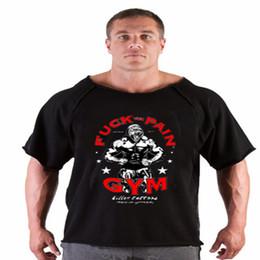 gorilla fitness Sconti Magliette da uomo Golds Fitness Men Bodybuilding Gorilla Wear Camicia Maniche a pipistrello Rag Tops Camicie allentate maschili ShirtTops