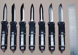 couteau de poche Promotion Gros-Mini Double Action automatique couteaux en acier inoxydable lame couteau de poche plaine tactique couteaux de survie avec gaine en nylon