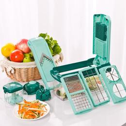 Wholesale Vegetable Sets - Slicer Vegetable Fruit Cutter Peeler Vegetable Fruit Graters Peeler Cutter Dicer Chopper Slicer Cutting Kitchen Tool 13pc Set OOA3872