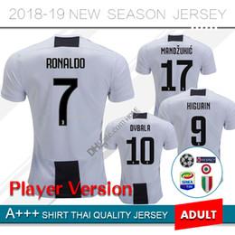 c8cdbcf28 2019 Juventus home player version Soccer Jersey 18 19  7 RONALDO DYBALA  Soccer Shirt MARCHISIO MANDZUKIC PJANIC HIGUAIN football uniform