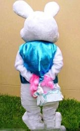 Wholesale High Quality Rabbit Costume - 2018 High quality hot Easter Bunny Mascot Costume Rabbit Cartoon Fancy Dress Adult
