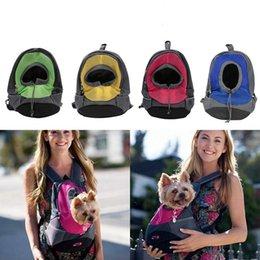 Wholesale Front Backpack - Pet Dog Carrier Pet Backpack Bag Portable Travel Bag Front Bag Mesh Backpack Head Out Double Shoulder Bags OOA4705