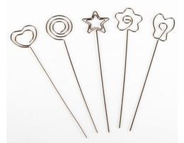 Canada 1000 pcs Argent Multi-Forme En Fil Métallique DIY Artisanat Clip Photo Photo Mémo Carte Titulaires Clips ClayCake Pince Accessoires Offre