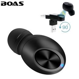 Canada BOAS Petit sans fil Bluetooth écouteur USB Magnet Invisible casque caché dans oreille Écouteur Mains libres avec Mic pour smartphone supplier smallest bluetooth handsfree Offre