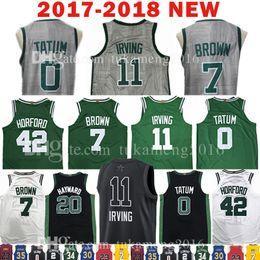 Wholesale Griffey S - 2018 New 11 Kyrie Irving 7 Jaylen Brown Jersey All Star 0 Jayson Tatum 20 Gordon Hayward 42 Al Horford The City Jerseys