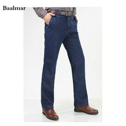 Wholesale Winter Overalls Men - Brand Men's Winter Thick Fleece Denim Jeans Mens Fasion Casual Warm Overalls Trousers Wool Pants Homme Men Classic Warm Jeans