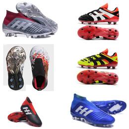 Argentina Botas de fútbol de tobillo alto 18 + x Pogba FG Predator Accelerator Electricidad DB Kids Soccer Shoes PureControl Purechaos Tacos de fútbol para mujeres supplier x 18 Suministro