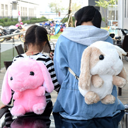sale stuff toys Coupons - Hot Sale and Fashion Cartoon Plush Toy Rabbit Kindergarten Student Backpack Stuffed Animal Children Toy Bag