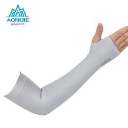Wholesale Bike Ice - Aonijie 1 Pair Arm Warmers Outdoor Sports Hiking Cycling Arm Sleeves Sun UV Protection Bike Bicycle Ice Breathable 4039