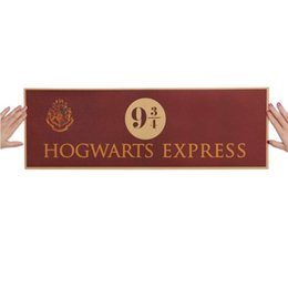 Wholesale Harry Potter Wall - 9 3 4 (nine and three quarters) Platform Harry Potter Movie Vintage Paper Decoration Poster Wall Stickers 72x24cm Free Shipping