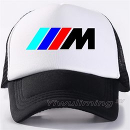 99b8cc490c8 Men Trucker Cap Men Car Hat Baseball Cap M3 M5 Logo Fans Hat Black Mesh Net  Trucker Caps Summer Cool Hat for Men Car Fan