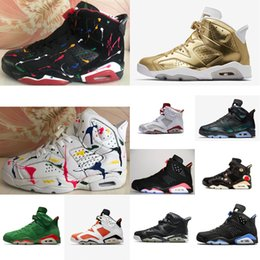 1925c20551f6 Women Retro 6s basketball shoes J6 Metallic Gold Oreo Black Blue Infrared  Floral Multi color Boys Girl Kids AJ6 Jumpman VI sneakers with box