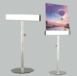 Sıcak satış Stainess çelik poster çerçeve ekran standı ayarlanabilir KT kurulu tutucu menü Afiş Billboard masaüstü Çift taraflı vitrin nereden yağlıboya resim çerçeveleme tedarikçiler
