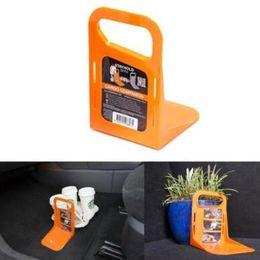 Wholesale Plastic Boot Storage - Stayhold Mini Orange Grey Small Car Boot Trunk Tidy Organizer Movement Barrier Storage Holders CCA9077 50pcs