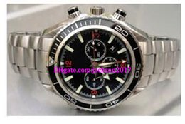 Wholesale original watch boxes ocean - Luxury watches Christmas gift Professional Planet Ocean XL Chrono Steel Men's Automatic Movement Watch Luxury Mens Sport Watch Original box