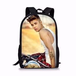 Wholesale School Satchels Book Bags - Wholesale-forudesigns 2017 Newest Happy Satchels Justin Bieber Fashion School Bags for Childrens Backpacks for Teen Girls Book Sac Mochila