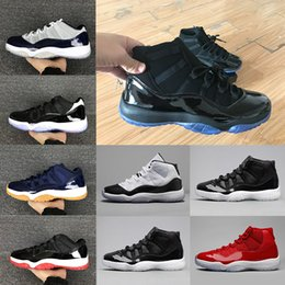 Wholesale Hot Christmas Sales - Hot Sale 11 11s Prom Night basketball Shoes men women gym red Midnight Navy bred Barons concord bred gamma blue Athletic sports sneakers