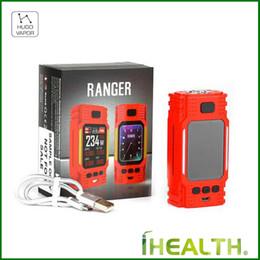 100% Auténtico Hugo Vapor Ranger GT234 TC Box Mod 234W con gran pantalla TFT a todo color de 2 pulgadas sin carga 18650 de batería 2A desde fabricantes