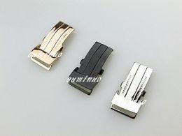 20 mm de acero inoxidable pulido de plata negro rosa oro reloj bandas hebilla broche de despliegue para Breitling bandas de reloj desde fabricantes