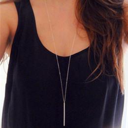 Wholesale Womens Silver Long Necklaces - whole sale1pc fashion womens vintage long necklace jewelry silver gold Colour simple feather pendant necklaces colar x223