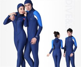 Wholesale Wetsuit Swimsuit - DIVE&SAIL long-sleeved Wetsuit Men Women Swimsuit Rash Guard Full Body Jumpsuit Diving Skin Sunscreen Clothes with Hood