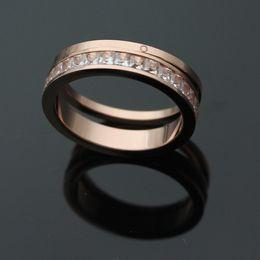 jóias finas coreano atacado Desconto Comércio exterior de jóias por atacado única linha anel de diamante de duas peças de anel de um anel de impressão fina anel de ouro 18K coreano.