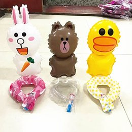 Wholesale Add Game - Cartoon aluminum film wrist balloon Children Toy Games rewards add more joy to children