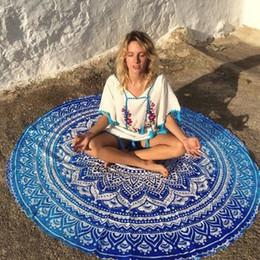 2019 gradiente alaranjado pashmina Nova moda chiffon impresso toalha de praia rodada tapeçaria hippie praia jogar roundie mandala towel yoga mat bohemian