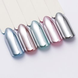 Polvo de oro brillo online-Born Queen Gold Silver Mirror Nail Glitter Powder Super Shine Cromo Pigmento Polvo DIY Manicure Nail Art Decoration