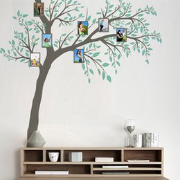 Wholesale Nature Wallpaper Poster Wall - New Family Photo Frame Tree Wall Sticker Home Decor Living Room Bedroom Wall Decals Poster Home Decoration Wallpaper