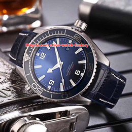 Wholesale ocean stainless - 5 Color Luxury AAA+ Quality Watch 43.5mm Planet Ocean Co-Axial 600M 215.32.44.21.01.001 Asia CAL.8500 Mechanical Automatic Mens Watches