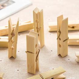 Деревянная прищепка онлайн-Бамбук сцепление древесины клип прищепка ветрозащитный одежда сушки клип небольшой клип мешок деревянный зажим