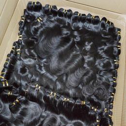 2019 style de tissage de cheveux vague naturelle 10pcs / lot Indian Temple traité Hairs Bundles Bundle Weave Body 7A